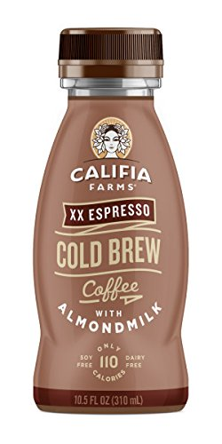 Califia Farms Cold Brew Coffee with Almondmilk, Dairy Free, Plant Milk, Vegan, Non-GMO, XX Espresso, 10.5 Oz (Pack of 12)