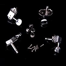 4pcs Silver Guitar String Tuning Pegs Key Tuner Machine Heads for Ukulele