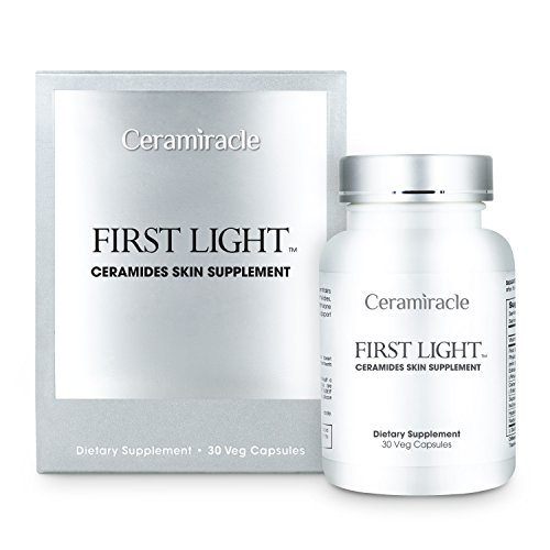Ceramiracle First Light Ceramides Skin Supplement with Phytoceramides, Hyaluronic Acid, and L-Glutathione for Anti-Aging, Hydration, and Wrinkle Repair