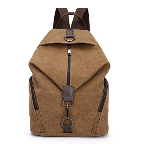 96f189f152 MiCoolker Canvas School Travel Backpack Sports Bag Classic Vintage Student  Satchel Bookbags Casual Travel Rucksack Daypack Brown