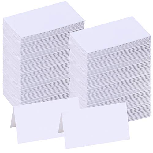 Supla 200 Pcs Table Name Place Cards Blank Place Cards White Table Tent Cards Table Name Tags Table Card Seating Cards -3.5
