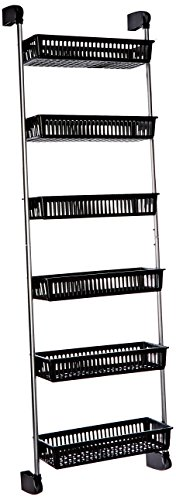 Hanging Door Organizer - Neu Home Over the Door 6-Basket Hanging Storage Unit with Hooks