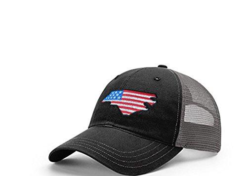 STATEE North Carolina American Flag Relaxed Fit Mesh Hat (North Carolina Baseball Hats)