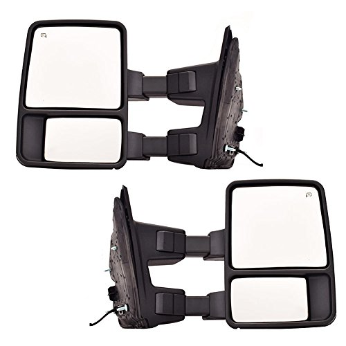LH+RH For Ford F250//F350//F450 SuperDuty Power+Heated+Yellow Signal Tow Mirrors