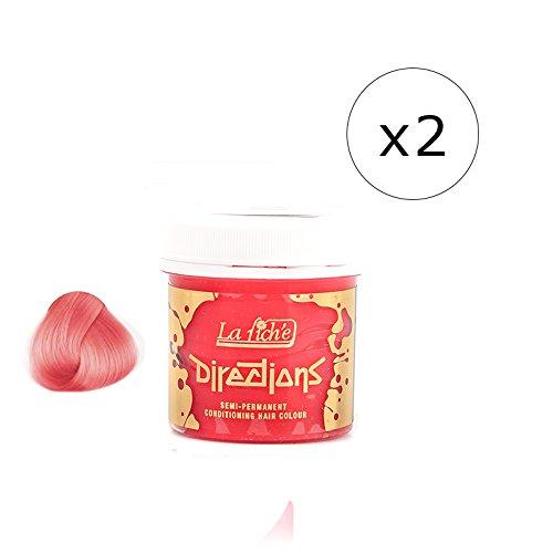 La Riche Directions Semi-Permanent Hair Colour Dye x2 Pack-Pastel Pink (dir)