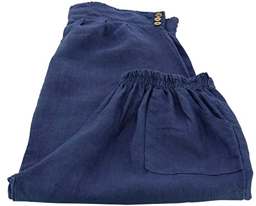 88909364b81c4 Femme Lin Taille Charleselie94® Jean Grande Bleu Femina Pantalon TwF5g6x