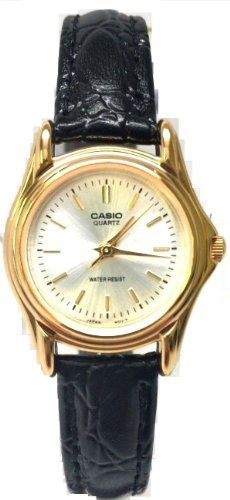 Casio LTP1096Q-7A Ladies Casual Analog Watch Genuine Leather Band Gold Case