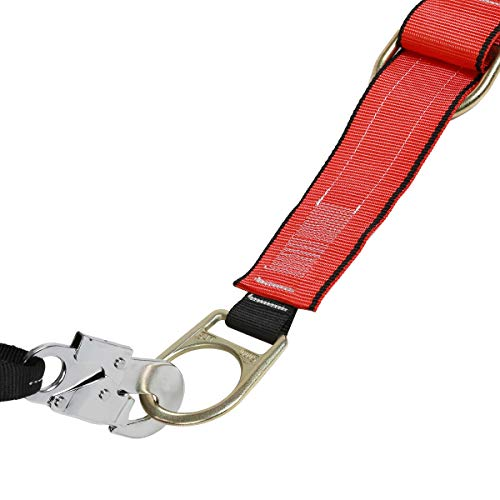 DCM Fall Protection Full Body Safety Harness Belts Kit with Single Shock Absorbing Lanyard and Concrete Anchor Cross Arm Webbing Strap for Climbing Roofing Restraint Construction Work by SUHA (Image #7)