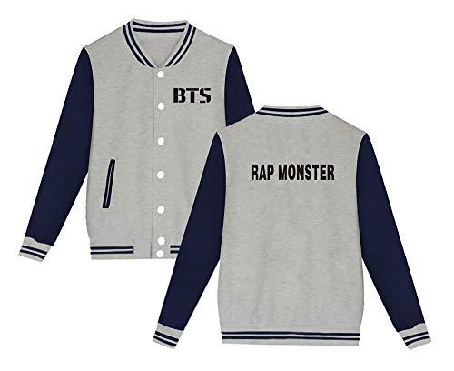 Semplice Moda Aivosen Bangtan Style Giacca K Bts Grey5 Casual Outwear Sweatshirts Cashmere Baseball Plus Da Unisex pop Allentato Boys W0c0nq8rp