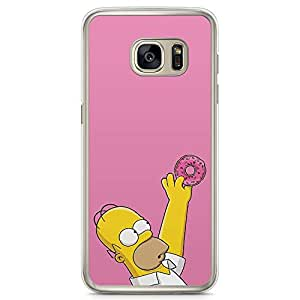 Loud Universe The Simpsons Pink Donut Samsung S7 Case The Simpsons Samsung S7 Cover with Transparent Edges