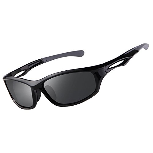 Men Men's Cycling grey Driving Sport for Sunglasses Black Polarized Sunglasses FD FEIDU 4002 Black wpIq0Yw