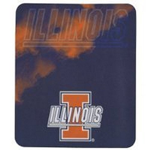 NCAA Officially Licensed Illinois Illini Smoke Fleece Throw - Northwest University Illinois