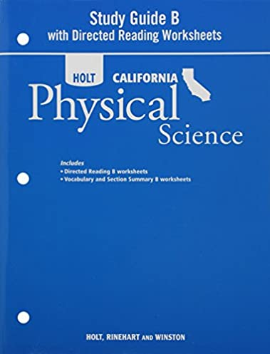holt science technology california study guide b with directed rh amazon com Holt California Physical Science Edition Holt California Science Eukaryotic Cells for 7th Graders