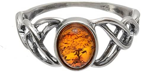 Sterling Silver and Baltic Honey Amber