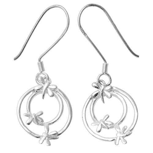 YACQ 925 Sterling Silver Dragonfly Women's Earrings (CE115)