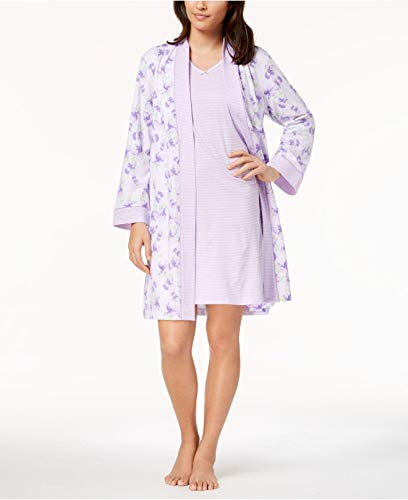 Charter Club Womens Plus Size 2-Piece Robe Color Summer Lilac Size ()
