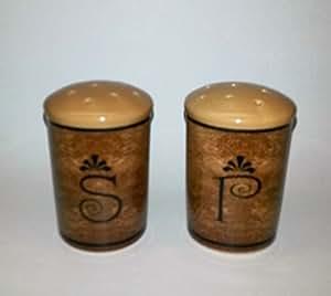 Salero y pimentero de cerámica para chucrut