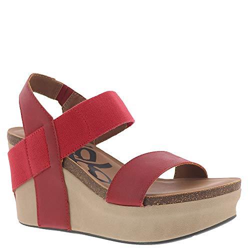 (OTBT Women's Bushnell Wedge Sandal (7 M US, Red))