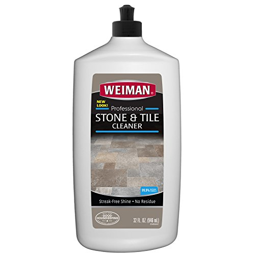 Weiman Stone Tile and Laminate Cleaner - 32 Ounce - Professional Tile Marble Granite Limestone Slate Terra Cotta Terrazzo and More Stone Floor Surface Cleaner - Natural Marble Tile