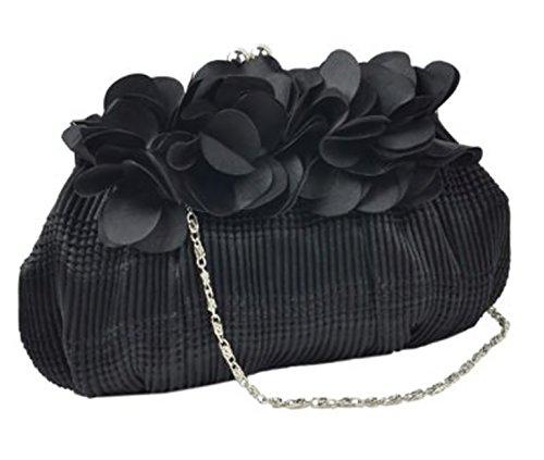Bag Glam Flower Feminine Black EyeCatchBags Tiara Detail Clutch EyeCatchBags Tiara 8wHCOv