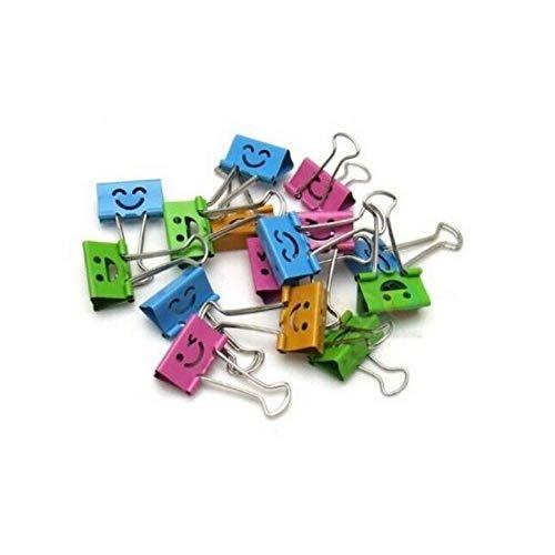 [해외]일반 웃는 얼굴 봄로드 된 파일 주최자 종이 홀더 바인더 클립 모듬 된 색상 40PCS/Generic Smiling Face Spring Loaded File Organizer Paper Holder Binder Clips Assorted Colors 40Pcs