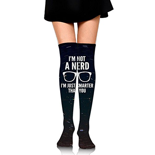 I'm Not A Nerd Smarter Than You Womens Fashion High Socks Stockings Over The Knee -