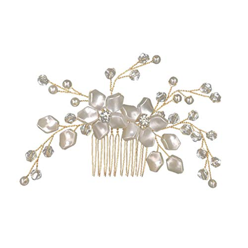 Landscap Bridal Wedding Head Band Crystal Pearl Flower Hair Pin Clip Comb Bridesmaid Accessory