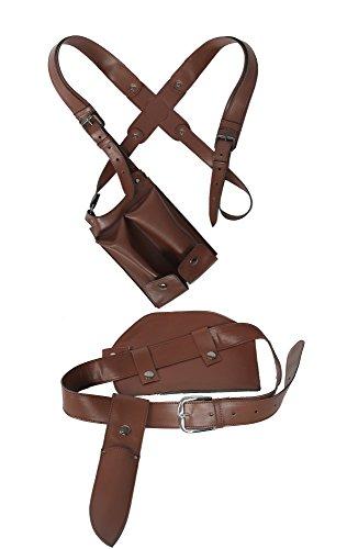 Chloe Frazer Belt Buckle Shoulder Harness Gun Holster Cosplay Costume Accessories