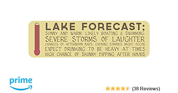 Amazon.com: Lake Forecast Sign: 7x23-inch Decorative Wood Plaque ...