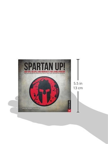 Spartan UP 2017 DaytoDay Calendar 365 Tips Recipes and Workouts for Living Spartan