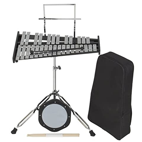 Percussion 30 Notes Glockenspiel Bell Kit w/ Practice Pad +Mallets+sticks+stand
