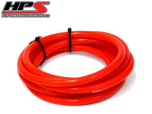 HPS 3mm High Temp Silicone Vacuum Hose Red x 10 Feet (3mm wall thickness)