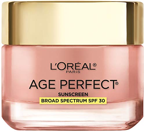 Face Moisturizer with SPF 30 by L'Oreal Paris Skin Care I Age Perfect Rosy Tone Moisturizer with SPF 30 Sunscreen for Visibly Younger Looking Skin I Anti-Aging Day Cream I 2.55 oz.