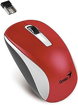 Genius NX-7010 - Ratón (RF inalámbrico, Negro, Rojo, Baterías, Ambidextro, Alcalino, AA Alkaline)