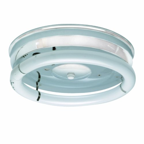 Sunlite 32WH 12-Inch 1-Light Multipurpose Circline Ceiling Fixture, White Finish