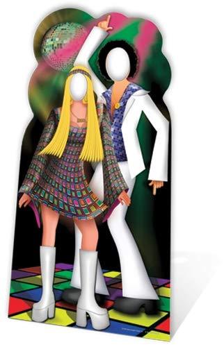 Star Cutouts SC190 Disco Couple Stand-In Cardboard Cutout Standup ()