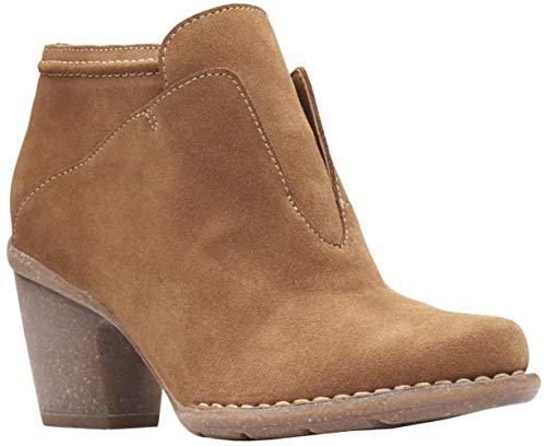 (CLARKS Womens Carleta York Boot, Tan Suede, Size 7)