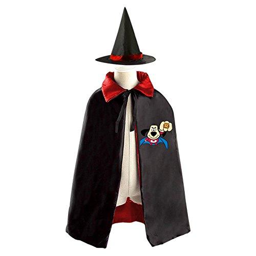 underdog Halloween Cloak Halloween Costume Children Cloak Cape Wizard Hat Cosplay For Kids Boys Girls Red