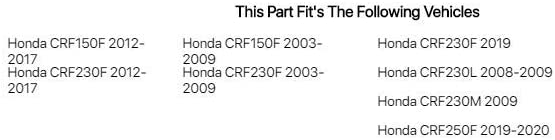 Tusk Clutch Lever Black Honda CRF230F 2012-2017 Fits
