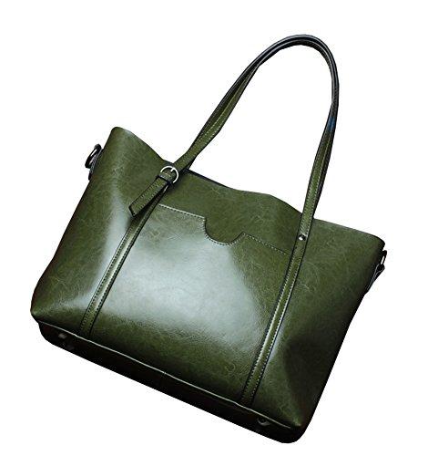 Satchel Stylish Molodo Genuine Hobo Green Handbag Top Leather Handle Tote Shoulder Purse Womens 6txx5wqHA
