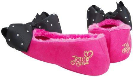 Jojo Bögen Hausschuhe Signature Collection Bögen Ballerina oder Bootie Slipper-Best Weihnachtsgeschenk für Ihr Kleines Mädchen (5-6, Rosa Ballerina Slipper)