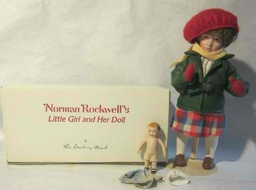 Norman Rockwell Porcelain Young Ladies Doll