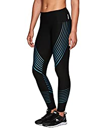 RBX Active Women's Running Leggings with Silicon Placement Lines