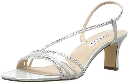 Nina Women's Gerri-Fy Dress Sandal, Silver Reflect Suedette, 8 M US