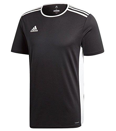adidas Entrada 18 Men's Soccer Jersey (Black, XL) (Jersey Football Contrast Side)
