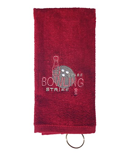 TravelNut Best Personalized Bowling Towel Men Women League Team Custom Idea 2019 for Mom Mommy Dad Son Daughter in Law Wife Teenager Unisex Grandparent Corporate (Burgundy, Blank) (Best Cot Bed 2019)