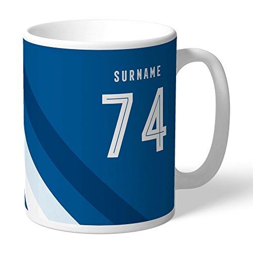 Leeds United Official Personalized FC Stripe Mug - FREE ()