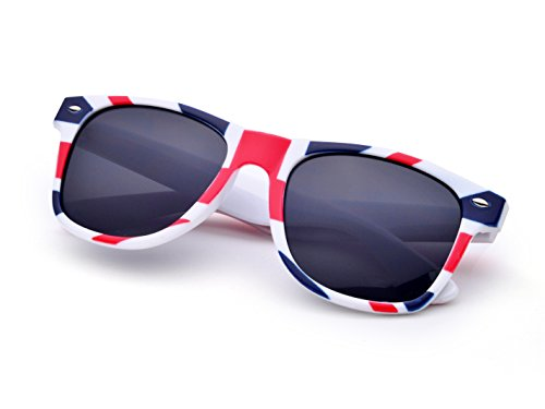 REINDEAR Unisex Patriotic British England Flag Wayfarer Style Sunglasses US Seller (British Flag - Uk Wayfarer Sunglasses
