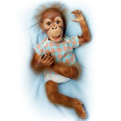 So Truly Real Orangutan Baby Doll: Baby Maha by Ashton Drake (Ashton Drake Dolls Lauren)