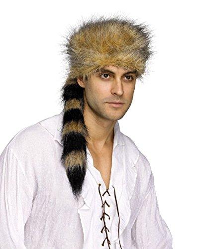 Circus Sweetie Mini Top Hat (Coonskin Cap Raccoon Hat Wild Animal Party Costume Accessory Prop Plush Fun Fur)